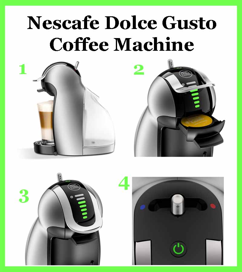 Nescafe Dolce Gusto Coffee Machine - Easy to use in four simple steps