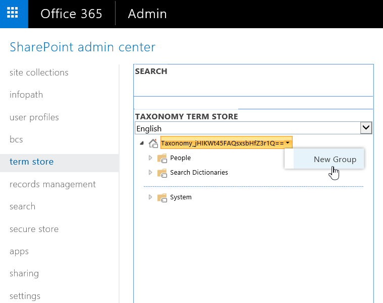 powershell to add new group in sharepoint online term store