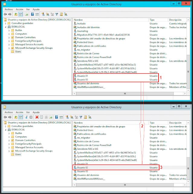 Usuarios y Equipos de Active Directory.