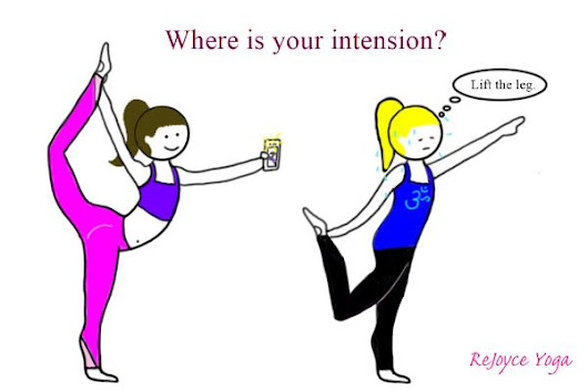 ReJoyce Yoga Cartoon: Intension