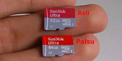 Perbedaan Memori MicroSD Palsu Asli