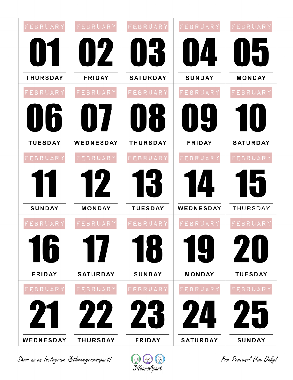 picture regarding Bullet Journal Stickers Printable named February 2018 Absolutely free Bullet Magazine and Planner Printable