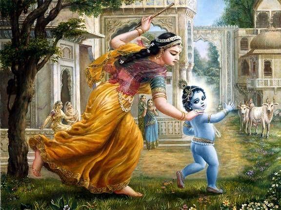 Lord Shri Krishna with His Mother Yashodha