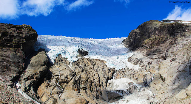 Glacier Bergsetbreen, Jostedal, Norvège du sud