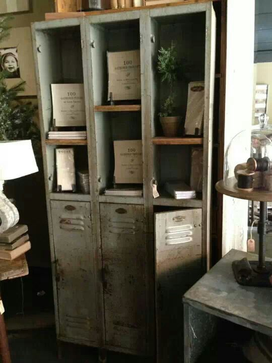The Vintage Metal Lockers And Cool Light Help To Create A Great Mix Of  Classic French Provincial And Industrial Chic.