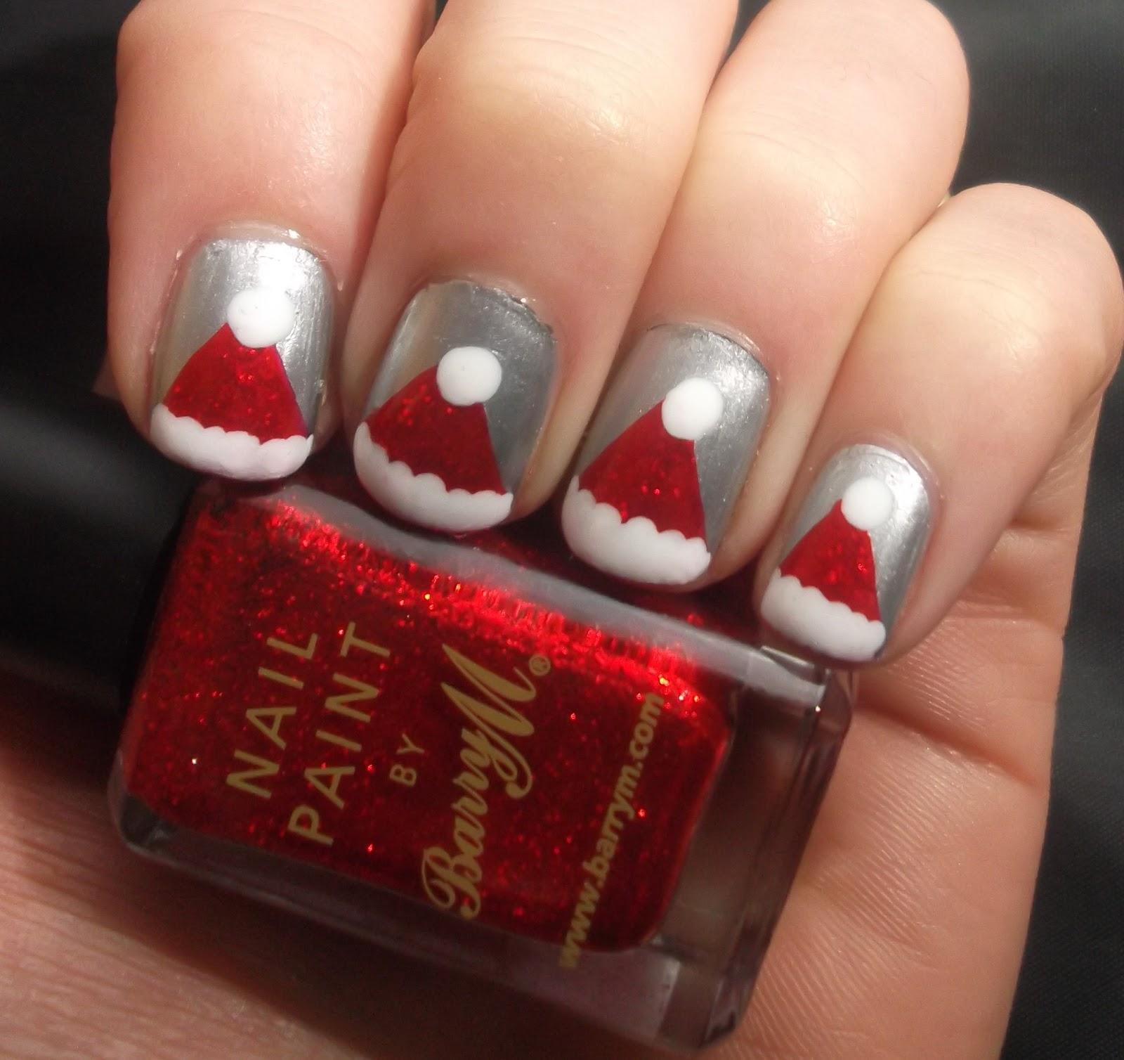 Lou Is Perfectly Polished Christmas Nails Christmas Trees: Lou Is Perfectly Polished: Christmas Nails: Santa Hats