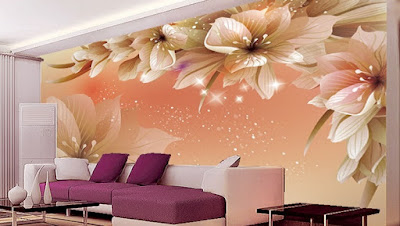 beautiful 3D wallpaper for living room walls in modern interiors