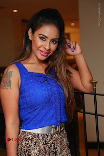 Telugu Actress Srilekha Reddy Latest HD Pos in Sleeveless Blue Top at Muse Art Gallery  0032.JPG