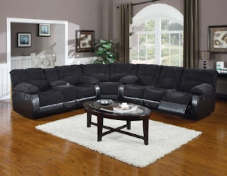 3 Pieces Fabric Sectional Sleeper Sofa With Recliners