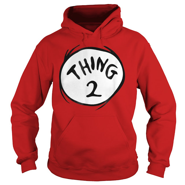 Dr Seuss Thing 1 2 Emblem RED T Shirt Hoodie Sweatshirt Tank Tops