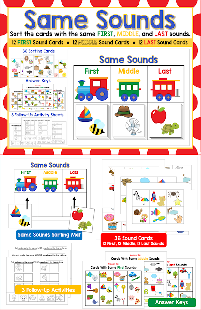 https://www.teacherspayteachers.com/Product/Same-Sounds-Isolate-Initial-Medial-and-Final-sounds-2051146