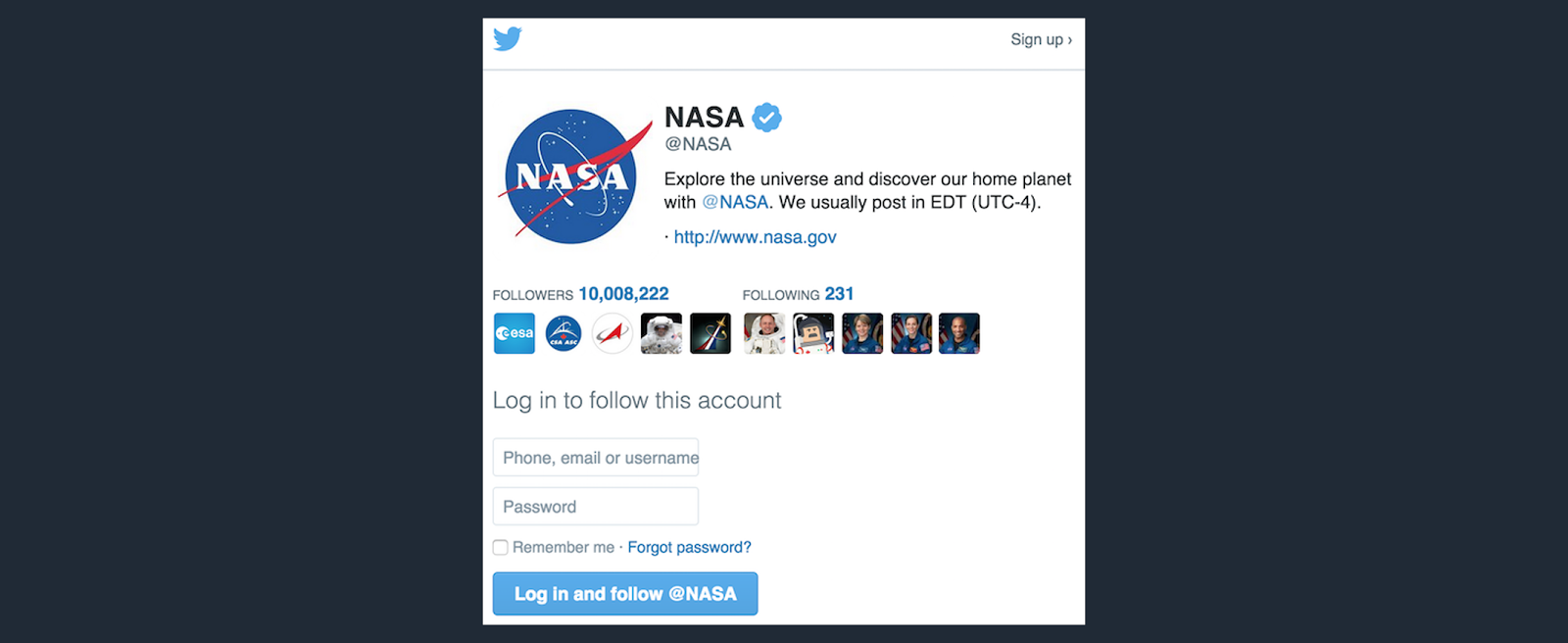 Twitter uses buttons to nudge their users to take desired actions