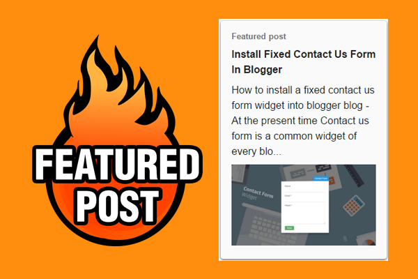 How To Add A Featured Post Widget In Blogger Smartpik4