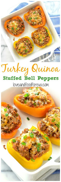 TURKEY QUINOA STUFFED BELL PEPPERS
