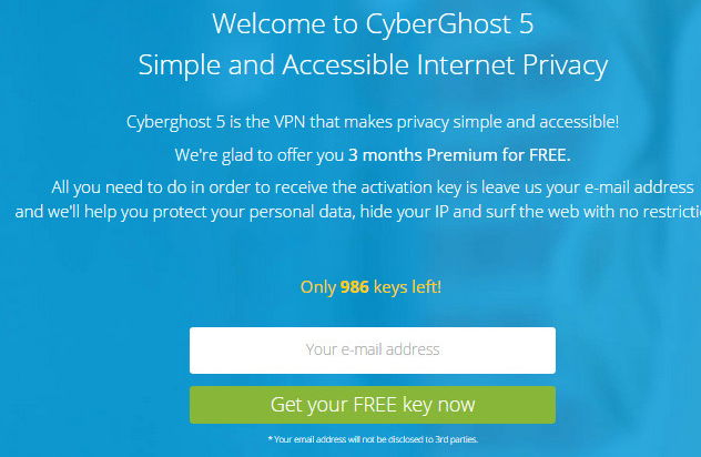 cyberghost 5 premium activation code