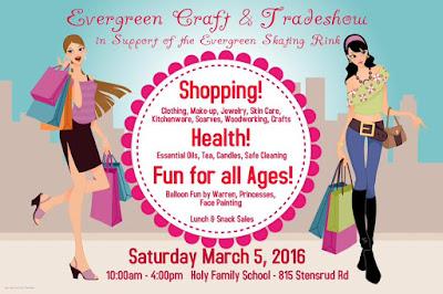 { evergreen craft & trade show benefits community rink }