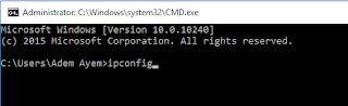 Cara Melihat IP Adress Lewat CMD