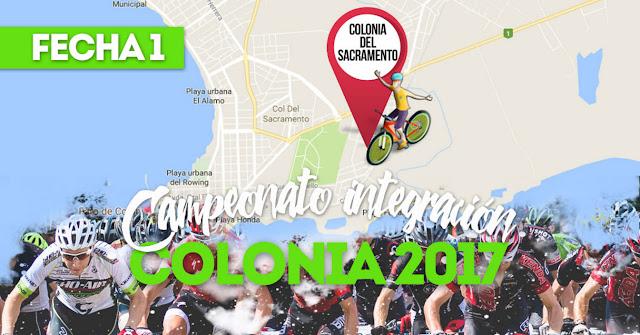 MTB - Campeonato integración de Colonia (1a. fecha, Colonia del Sacramento, 24/sep/2017)
