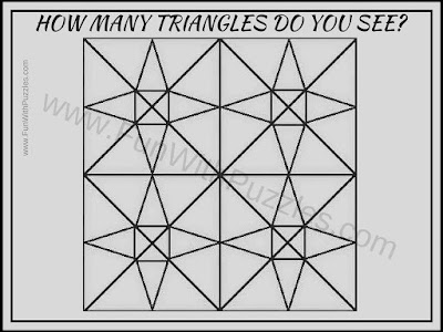 How Many Triangles Can you count in this Tough Picture Puzzle?