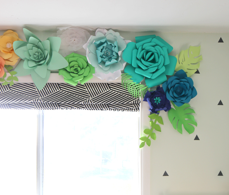 Giant 3D paper flowers