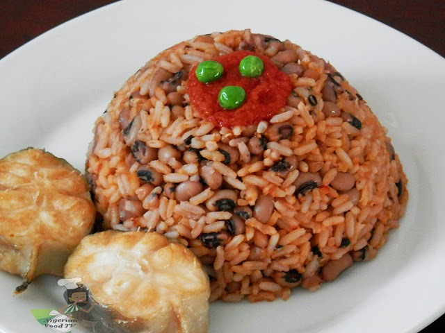 Nigerian Rice and Beans, how to cook Nigerian Rice and Beans