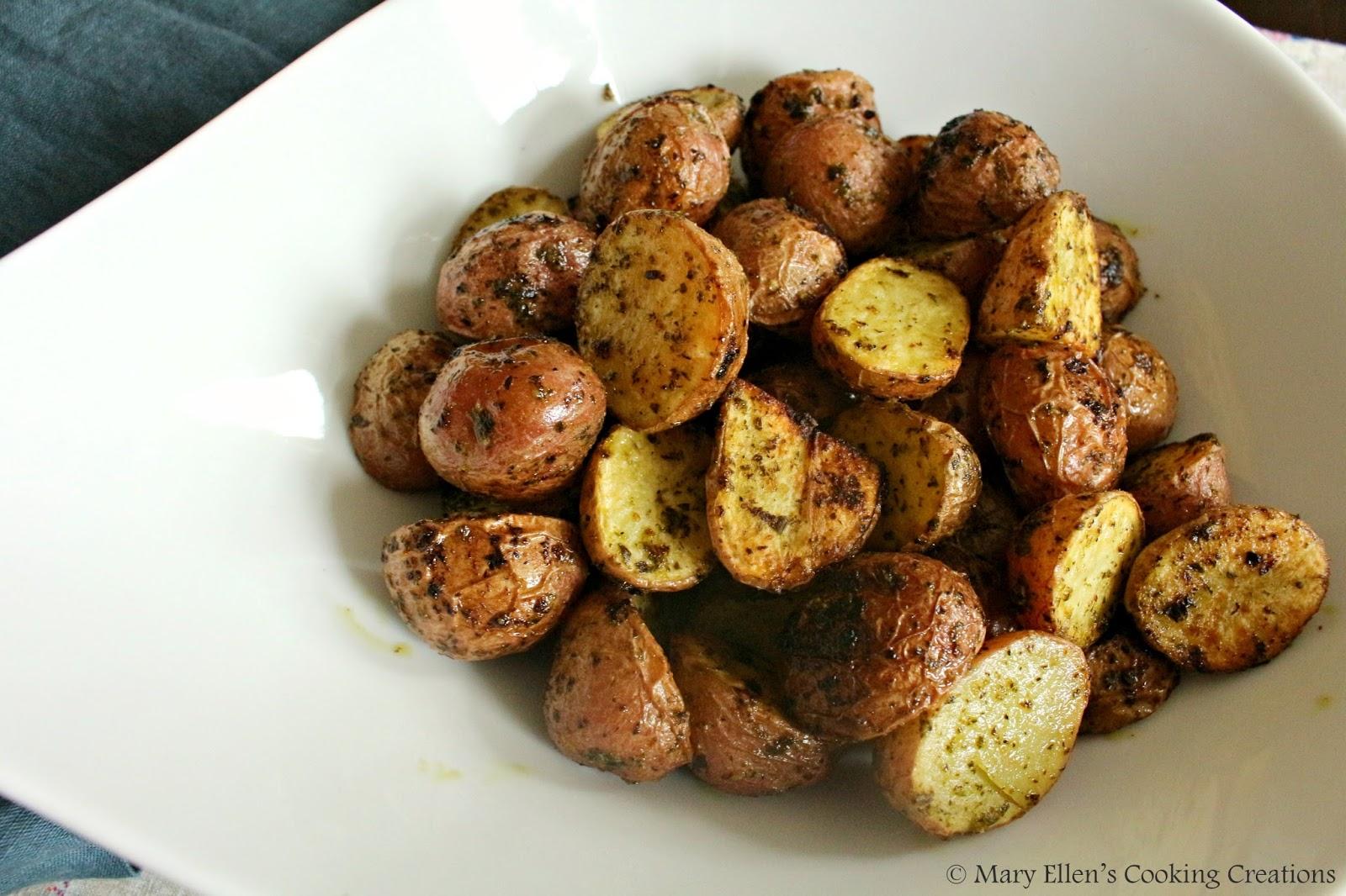 Mary Ellen S Cooking Creations Lemon Garlic Roasted Potatoes