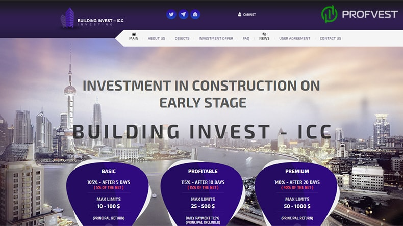 Building Invest-ICC обзор и отзывы HYIP-проекта