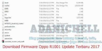 Download Firmware Oppo R1001 Update Terbaru 2017