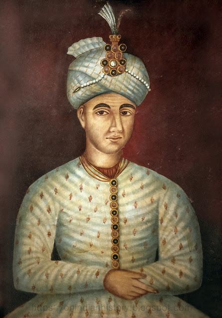 Hyder Ali Khan in his younger years