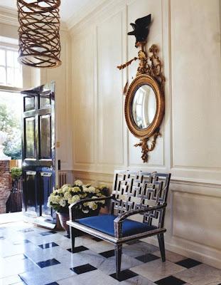 Marie Chantal Miller home entryway in London