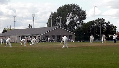 Brigg Town Cricket Club playing Haxey in 2018 at the Recreation Ground - see Nigel Fisher's Brigg Blog