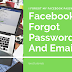 Facebook Lost Email and Password