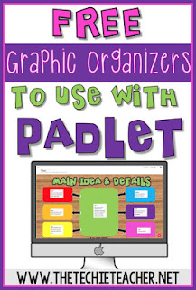 These FREE graphic organizers can be using with the collaborative digital tool, Padlet.