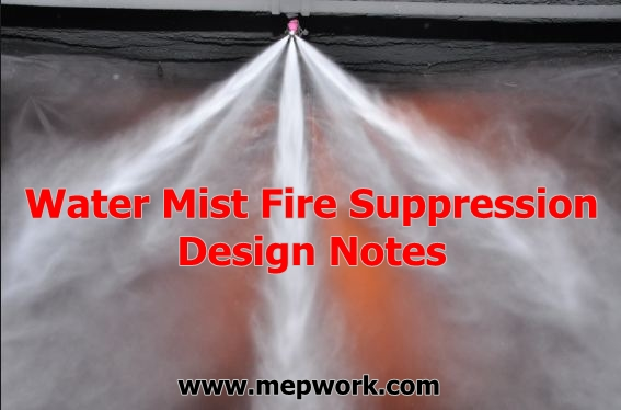 Water Mist Fire Suppression Design Notes - Free PDF