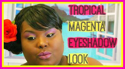 tropical eyeshadow look