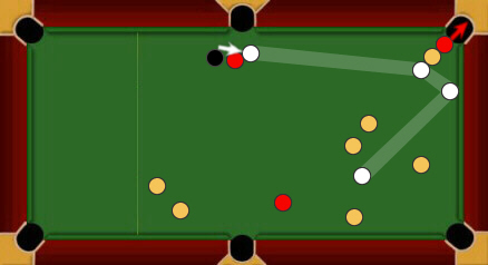 blackball pool rules touching balls