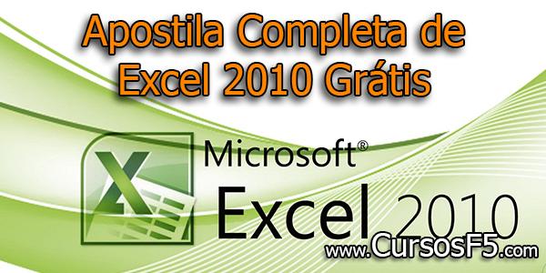 Apostila Completa de Excel 2010 Grátis