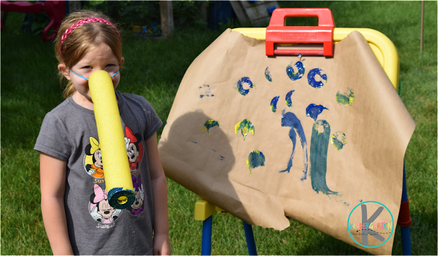 making elephant art using a pool noodle