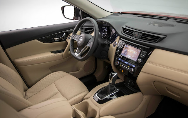 Interior view of 2017 Nissan Rogue Hybrid (SL model shown)