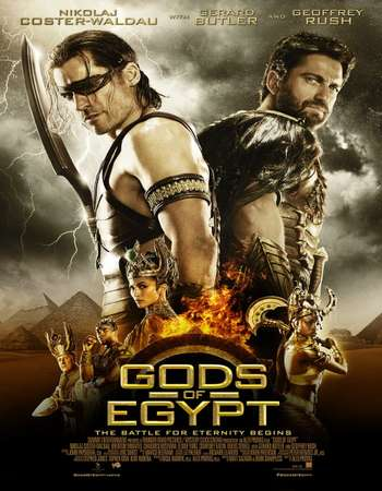 Poster Of Gods of Egypt 2016 ORG Dual Audio 450MB BRRip 720p ESubs HEVC Free Download Watch Online Worldfree4u
