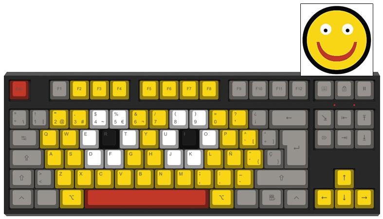 Smiley - Diseño teclado mecánico - dPunisher