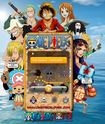 Winamp skin: one piece (monkey d. Luffy).