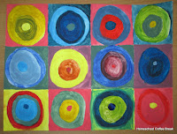 Kandinsky Color Mixing on the Virtual Refrigerator art link-up hosted by Homeschool Coffee Break @ kympossibleblog.blogspot.com #art  #VirtualFridge