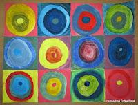 Kandinsky Color Mixing on the Virtual Refrigerator art link-up hosted by Homeschool Coffee Break @ kympossibleblog.blogspot.com #art  #VirtualFridge