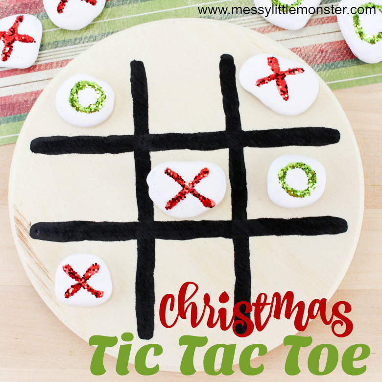 Christmas tic tac toe game - Homemade gifts for kids