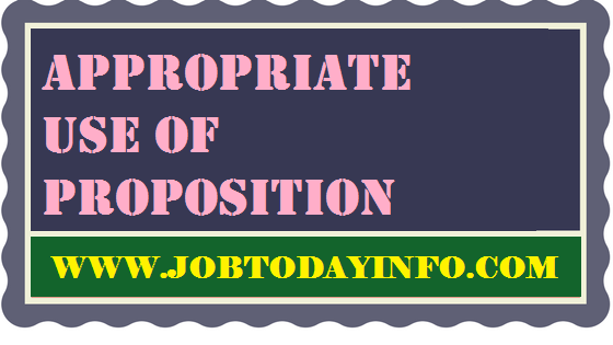 Appropriate Use of Proposition Download PDF Free – SSC CGL & Competitive Exams