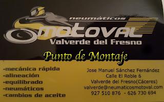 Neumáticos Motoval, en Valverde del Fresno