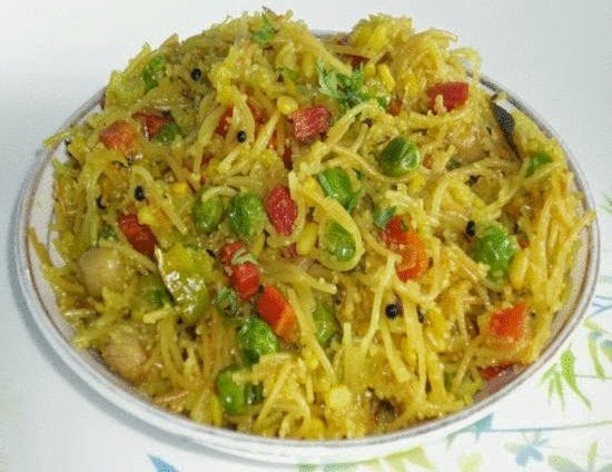 sevai upma in a serving plate