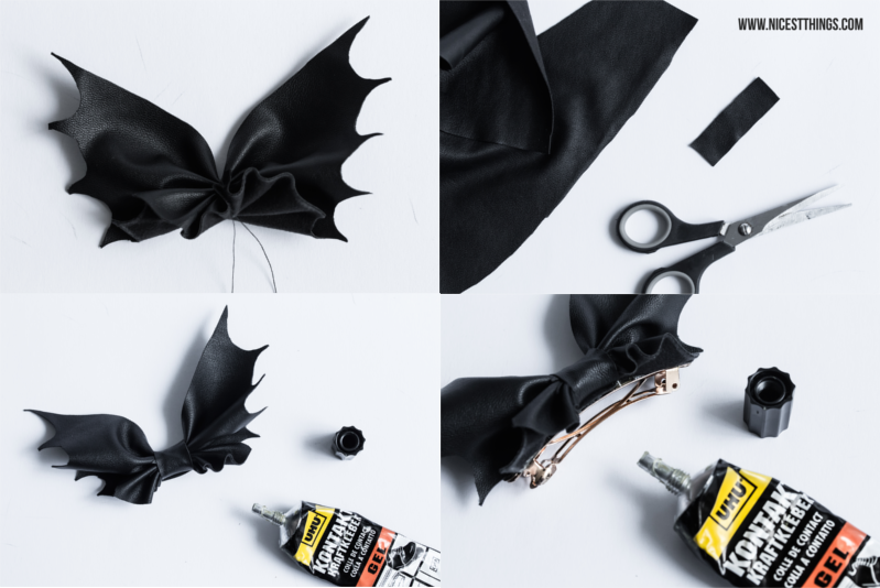 Halloween DIY Bat Bow Fledermaus Schleife Anleitung