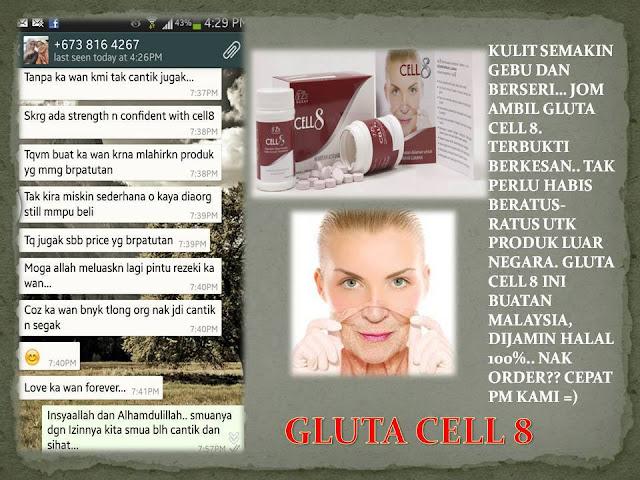 testimoni gluta cell 8